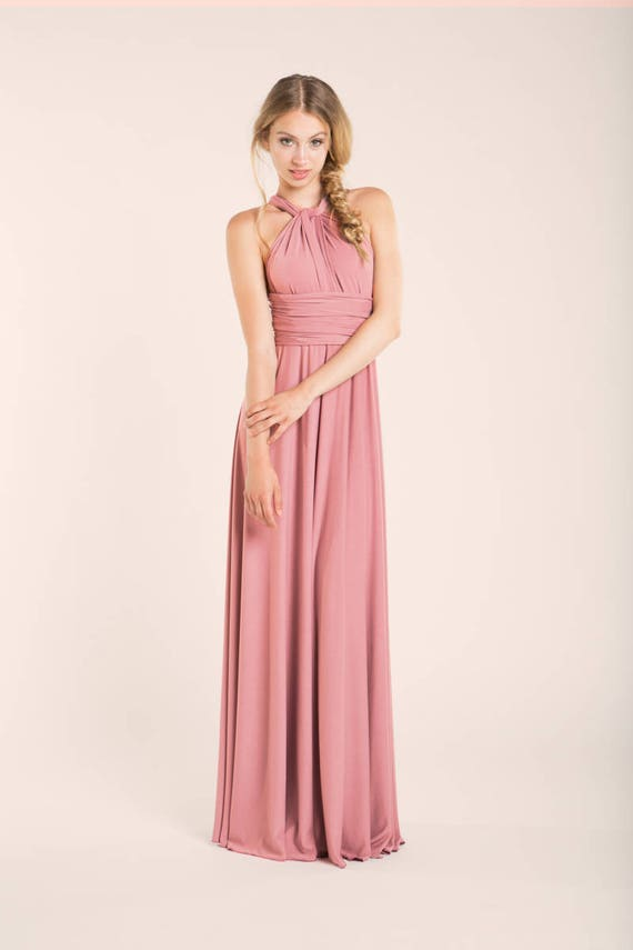 Vestido noche rosa vestido largo rosa vestido fiesta