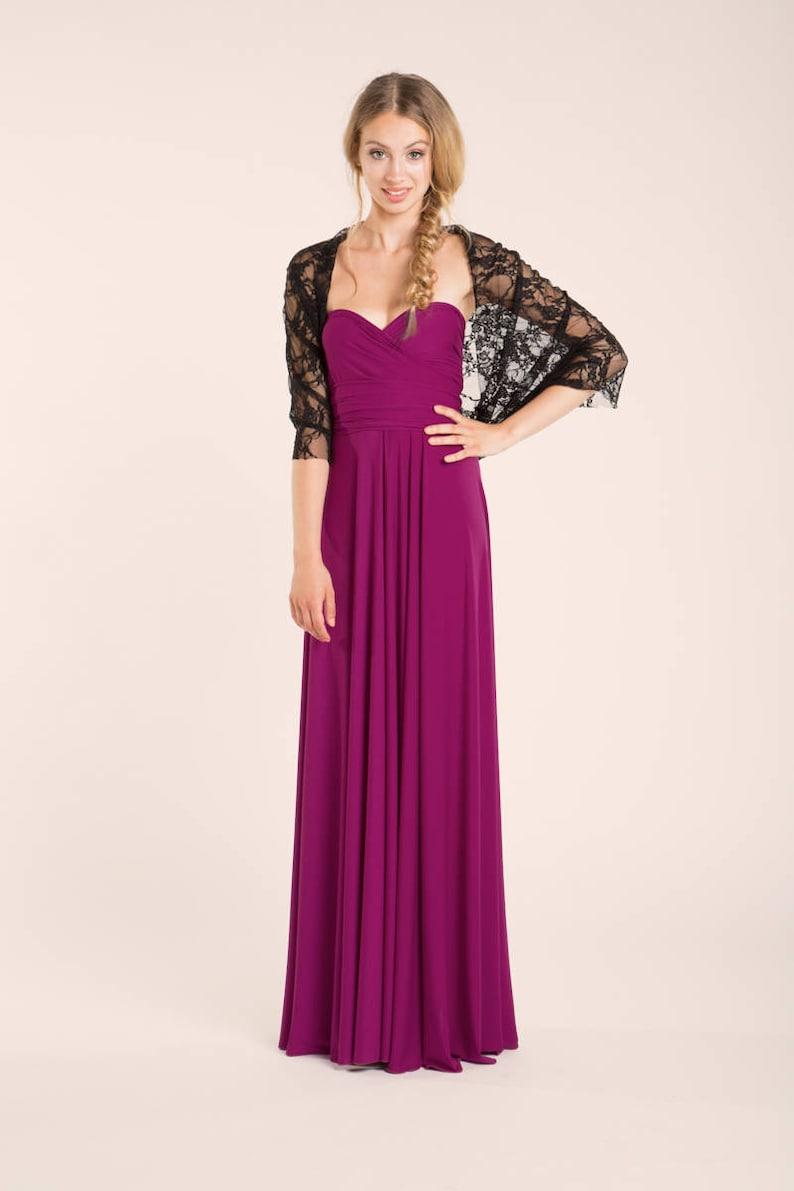 225d5de44364 Orchid long multi way dress multi way bridesmaid dress pink   Etsy