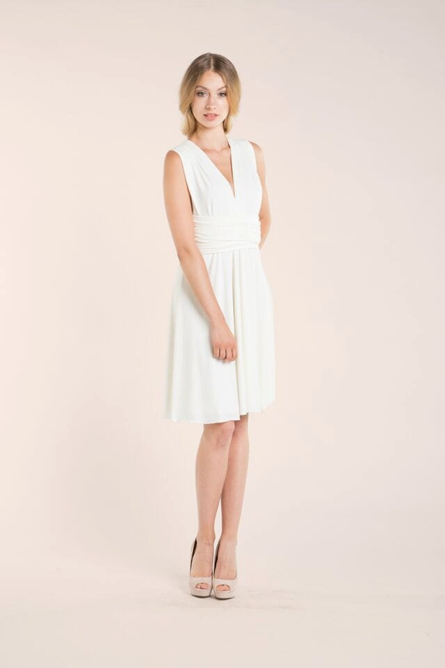 f1a414a08b Ready-to-ship short wedding dress knee length white dress | Etsy