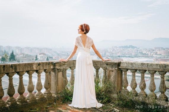 Woodland wedding dress whimsical wedding dresses bohemian | Etsy