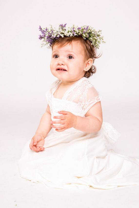 Flower girl dress baby dress baby flower girl dress flower etsy image 0 mightylinksfo