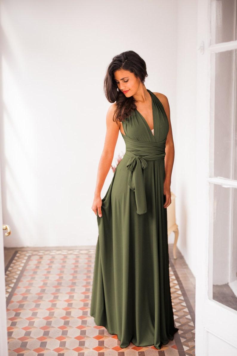 Olive green bridesmaid dress green dress bridesmaids olive image 0