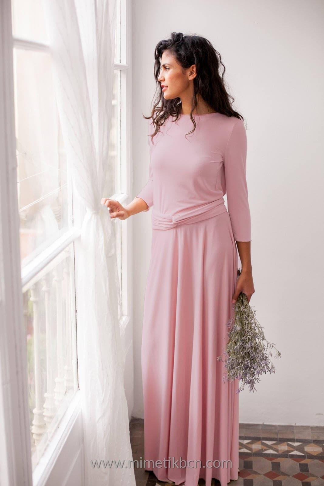 Vestido rosa palo con manga vestido con manga color rosa | Etsy