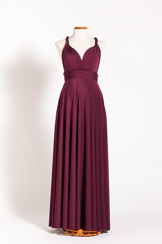 Marsala maternità Infinity Dress vestito lungo di maternità | Etsy