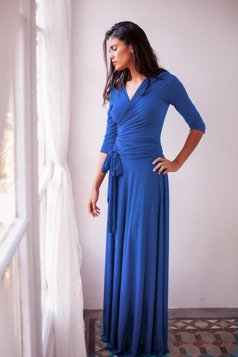 4da7de44d432 Royal blue Abito abito lungo blu cobalto vestito