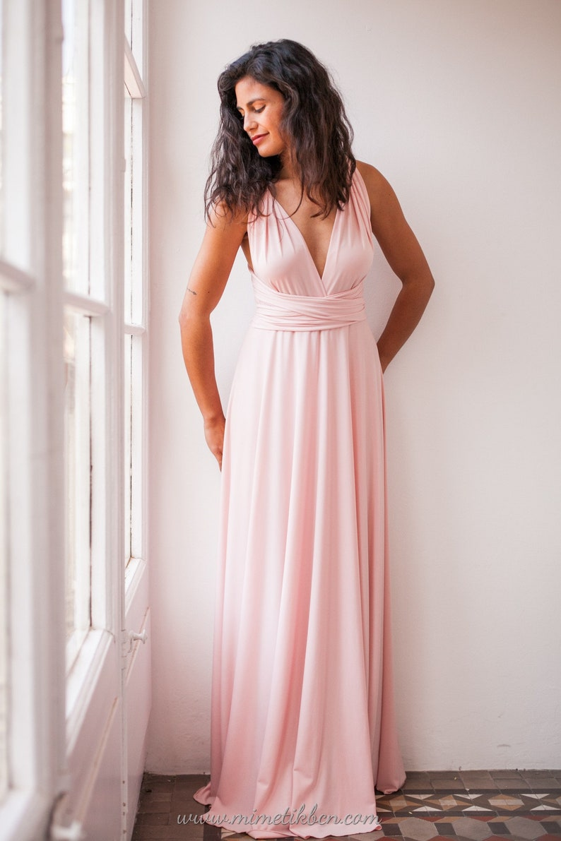 e4480a767082 Rose quartz infinity dress rose quartz bridesmaids dress