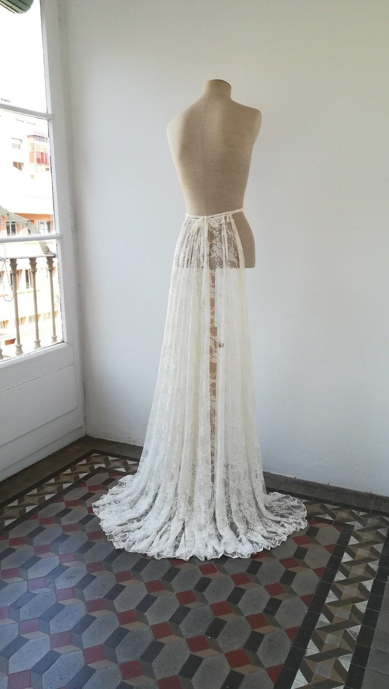 0c2148b40 Cola para vestido de novia Cola desmontable Falda accesoria