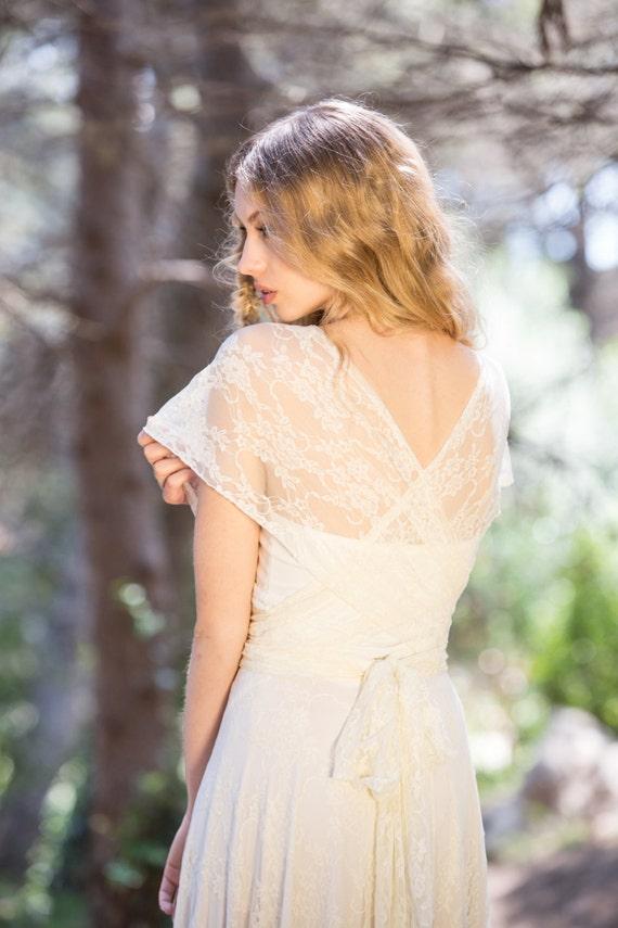 Romantic wedding dress bridal gowns boho lace wedding dress | Etsy