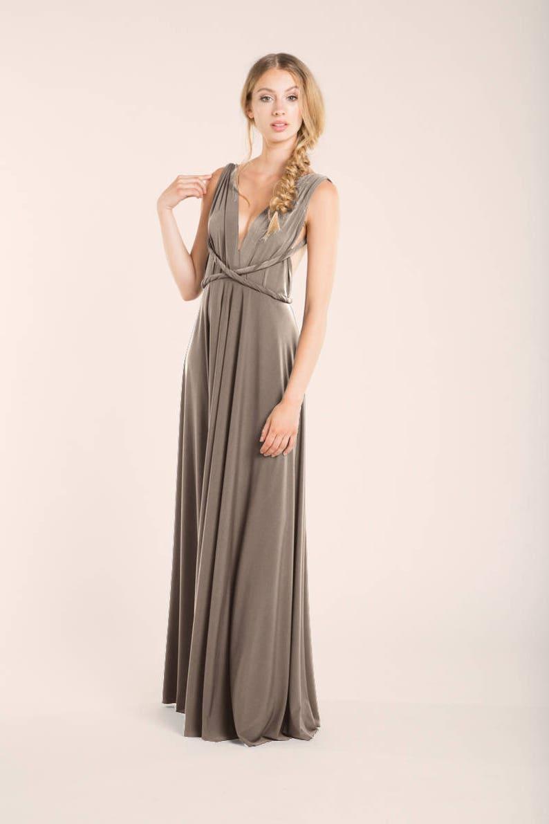 dc16e31adba5bd Taupe bridesmaid dress Taupe long dress pale brown infinity