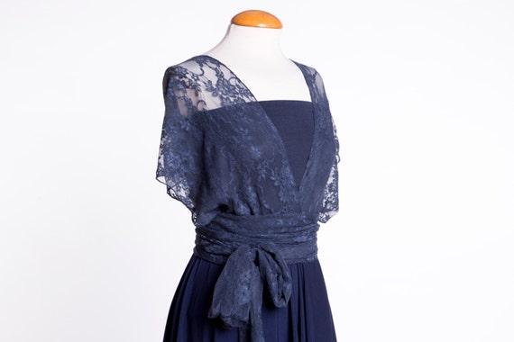Vestidos azul marino de encaje