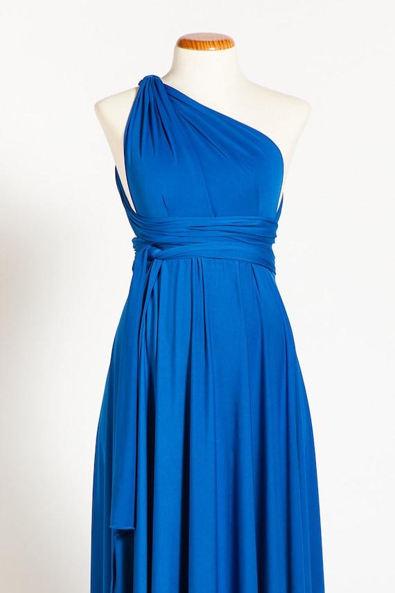 Blue Baby Shower Dress Maternity Dresses Blue Infinity Dress Etsy