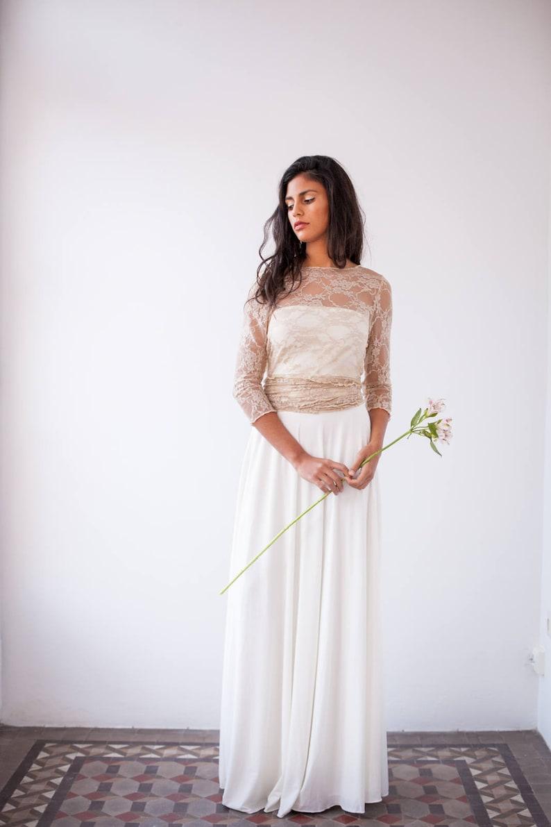 43b0d3713 Falda larga de novia, falda sencilla de novia, falda de novia larga, falda  larga marfíl, falda marfíl, faldas de novia, falda maxi marfíl