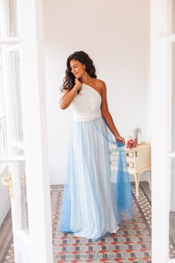 Dreamy wedding dress Dreamy blue wedding dress Unusual | Etsy