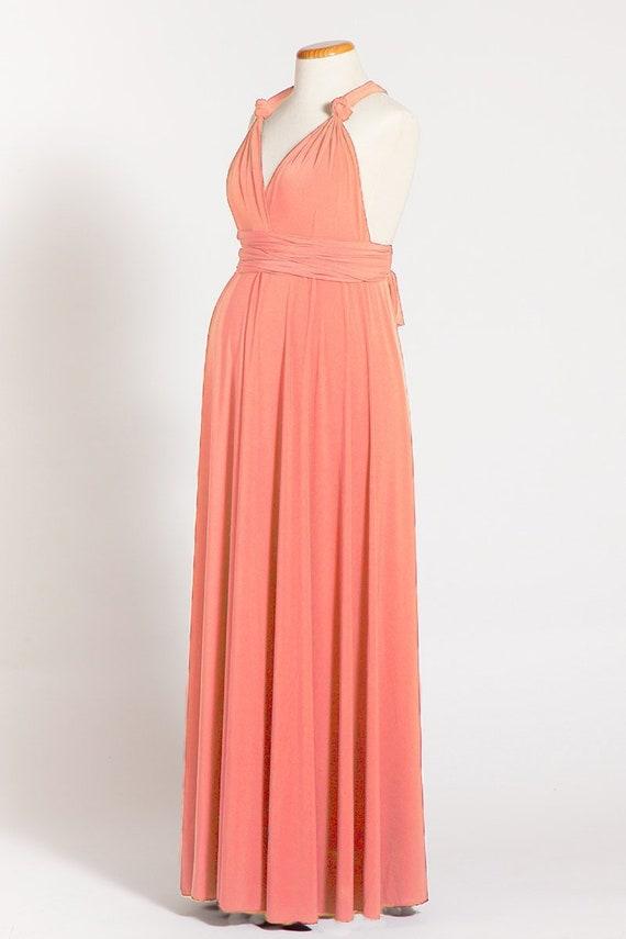 infinity dress lungo  Coral maternità Infinity Dress vestito di maternità lungo   Etsy