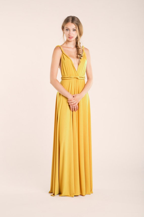Prom Dress Mustard Prom Dress Mustard Yellow Bridesmaid Etsy