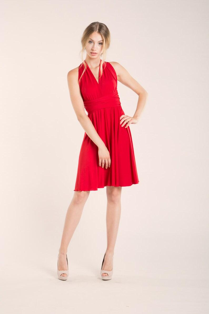 57752eab85 Vestido Inifinity Rojo Vestido Infinity Vestido dama de