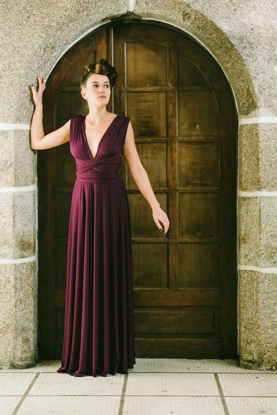 Marsala dress marsala infinity dress long dress ready to | Etsy