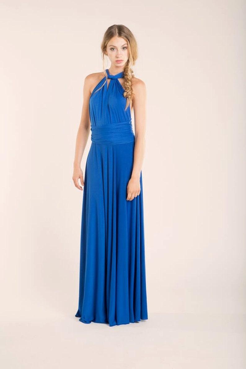 Royal blue bridesmaid dress blue infinity dress wedding  847d414c84d8