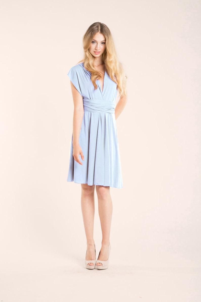 360bca52dd Vestido corto azul claro vestido corto de fiesta azul