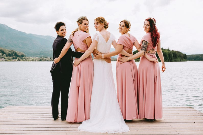 3c925c14c458 Blush bridesmaid dress blush pink bridesmaid dress long