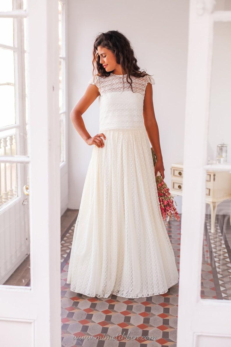 c0df6374d Falda de novia boho Falda para vestido de novia Falda d