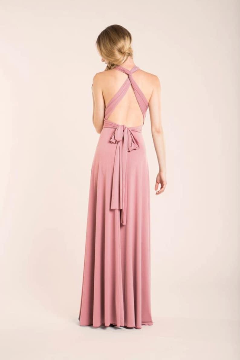 Bridesmaid dress blush bridesmaid dress powder pink maxi image 0