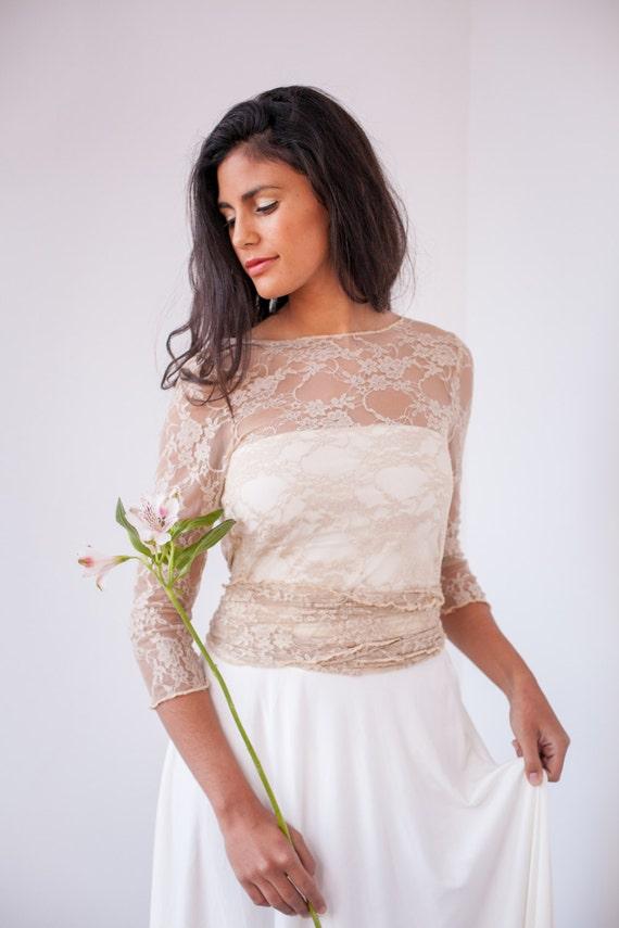 wedding cover up Ivory Bridal cover ups lace lace wedding wrap top wedding Bolero versatile lace top lace jacket