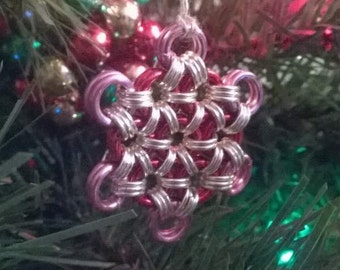 Snowflake Christmas ornament. Many colours available