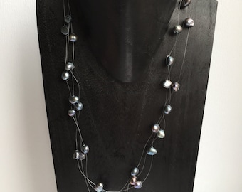 CLEARANCE SALE  - Black Pearl Necklace