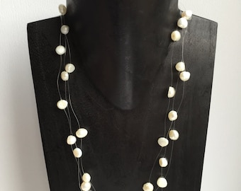Ivory White Pearl Necklace - CLEARANCE
