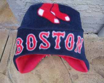 Boston Red Sox Fleece Hat with Ear Flap - Perfect for Baby, Kids, Teens and Adults