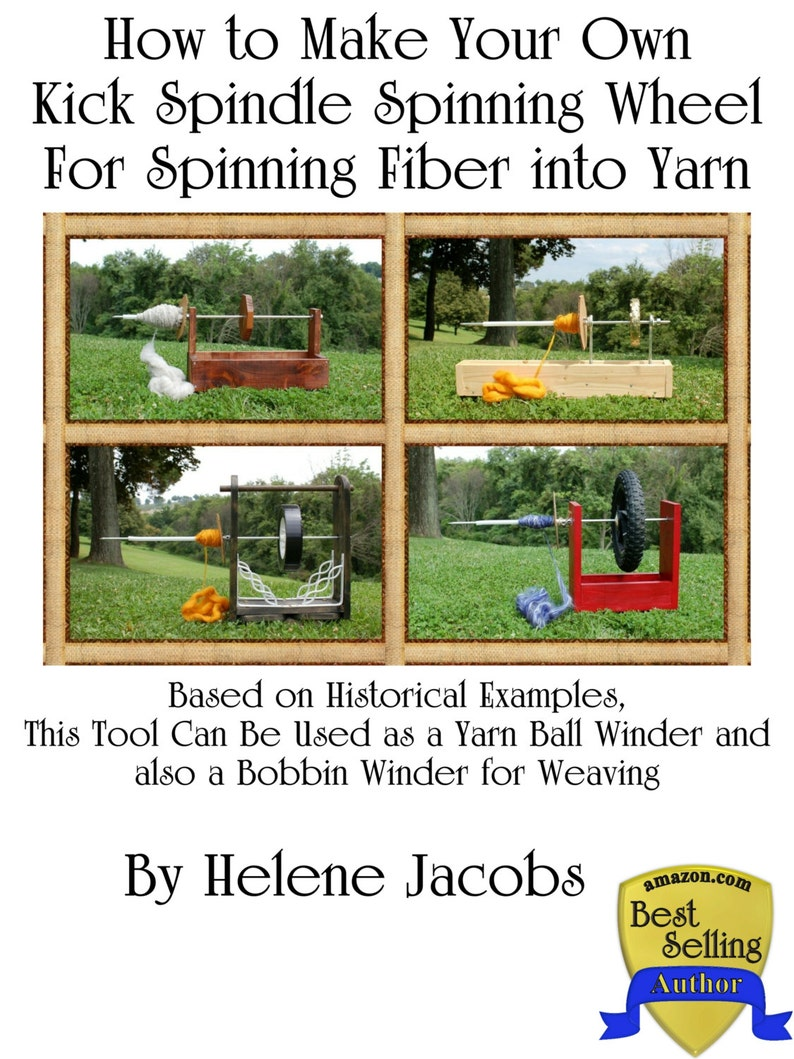 How to Make Your Own Kick Spindle Spinning Wheel For Spinning image 0