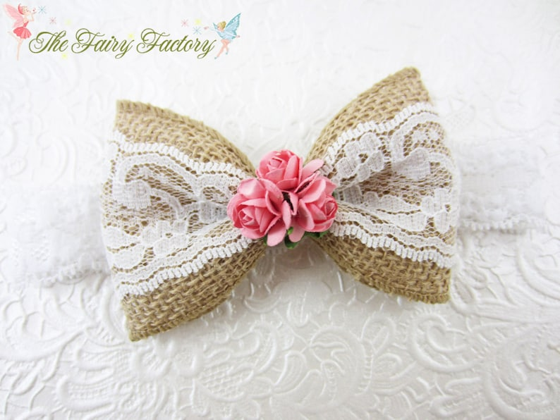 White Lace Butterfly Pale Pink Lace Headband *new* Girls' Accessories Hair Accessories