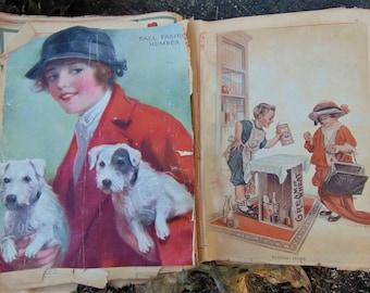 Antique GLUE BOOK Hardware Catalog Paper Ephemera Scrapbook 1912-1925