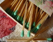 Beauty in the Mundane. Vintage FLORAL MATCHBOX with Chic and Shabby colored matches
