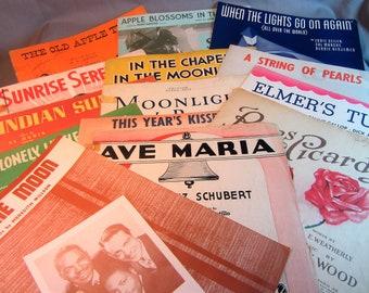 40s 50s sheet music | Etsy