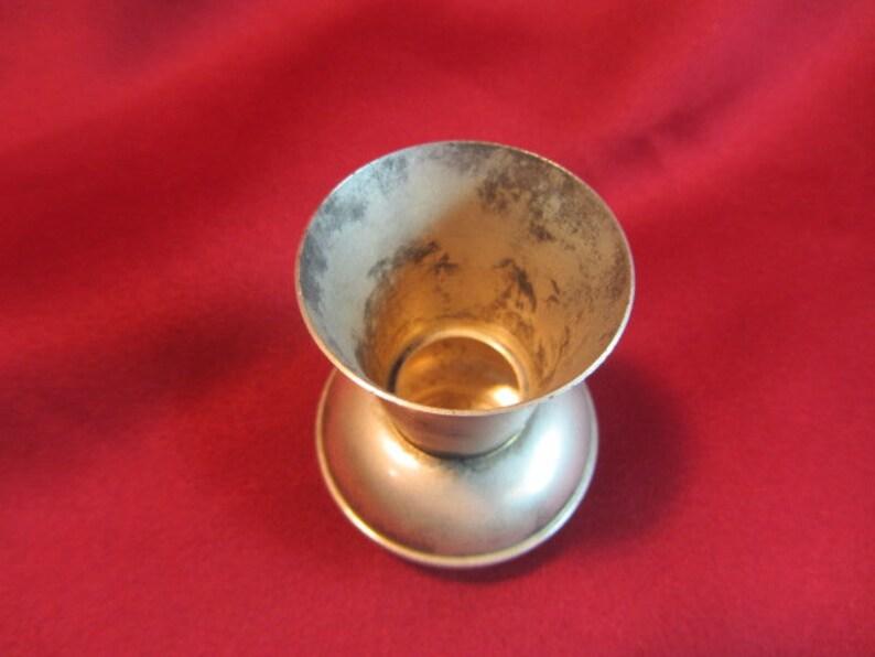 Sm Fluted Pot Belly Vase Antique Pot Belly Brass Toothpick Holder Round Bottom Brass Toothpick Holder Desk Vase Table Toothpick Holder