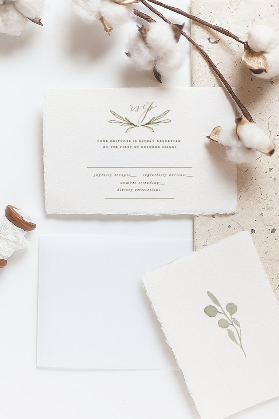 Rsvp Wedding Response Card Template Reply Card Printable Etsy