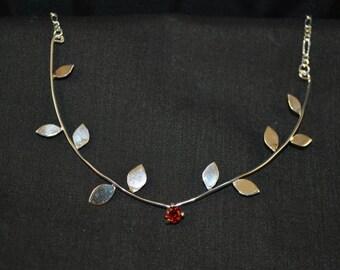 Garnet Vine Necklace