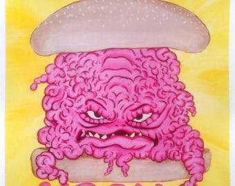 """Burger Krang 11""""x14"""" print"""