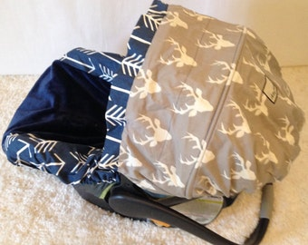 Stag Infant Car Seat Cover Baby Set Including Strap Deer Heads Boy Covers Ritzy