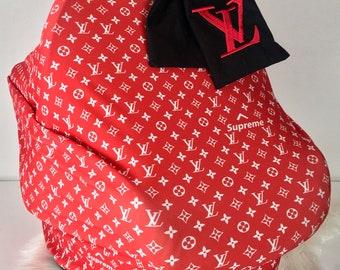 471e05cfc74 LV Supreme Red Designer Inspired Car Seat Canopy
