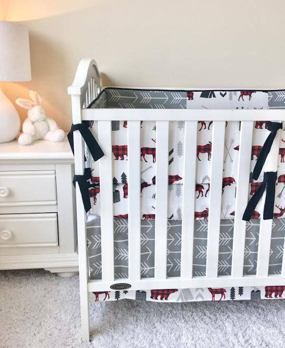 amazing Moose Baby Bedding Sets Part - 7: Moose Baby Bedding Grey Arrow Teepee Crib Sets Crib   Etsy