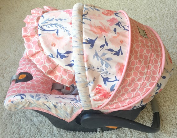 Replacement Car Seat Cover Blush Floral