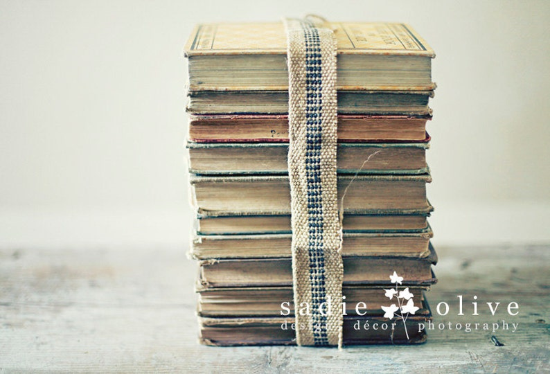 stacked books postcard set image 0