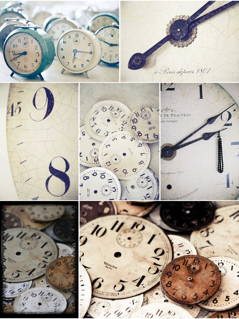 clocks postcard set image 0