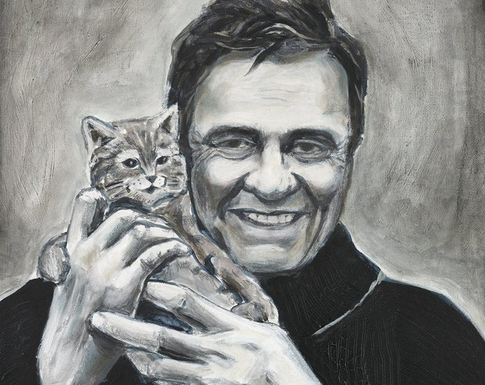 Johnny Cash with Kitten