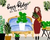Happy Holidays Plant Lady