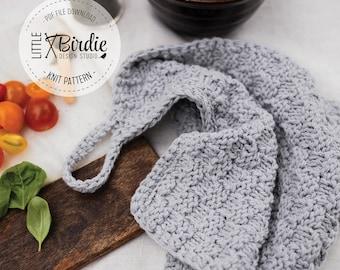 Knitting Pattern   Kitchen Dishtowel   Tea Towel   The Ridgeway Tea Towel   Instant Download