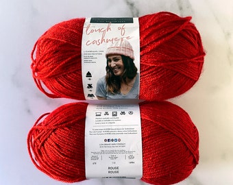 Lion Brand Yarn - Touch of Cashmere - Rouge